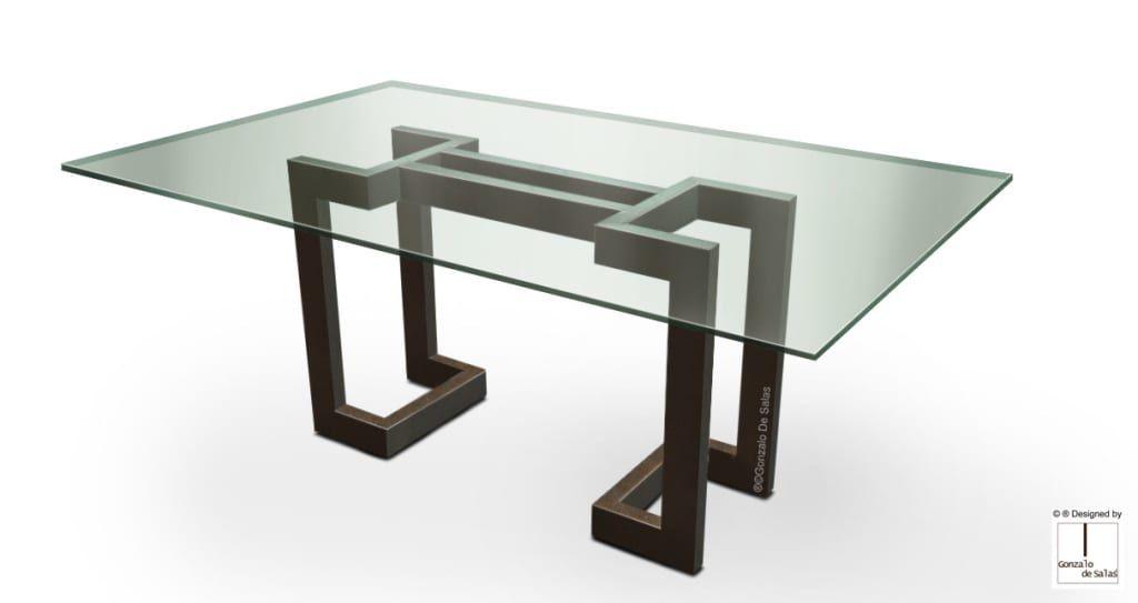 Sendai – mesa moderna (tablero de vidrio): comedor de estilo de ...