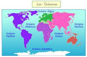 Resultado De Imagen Para Oceanos Y Mares De America World Map Map World