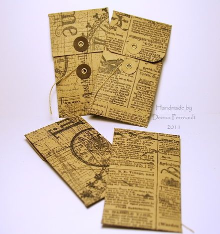 Vintage Style Coin Envelopes with Video Tutorial