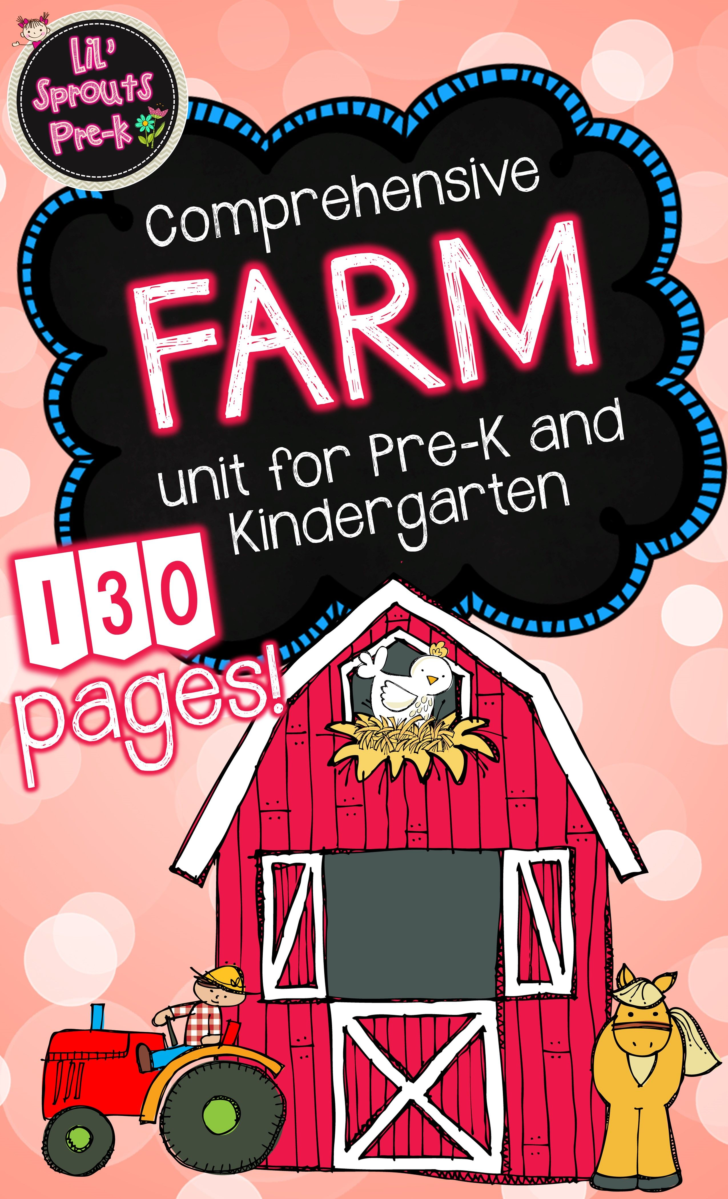 Farm Unit For Pre K And Kindergarten With Printables And