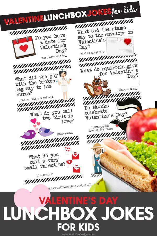 Valentine S Day Lunch Box Jokes For Kids Valentines Day