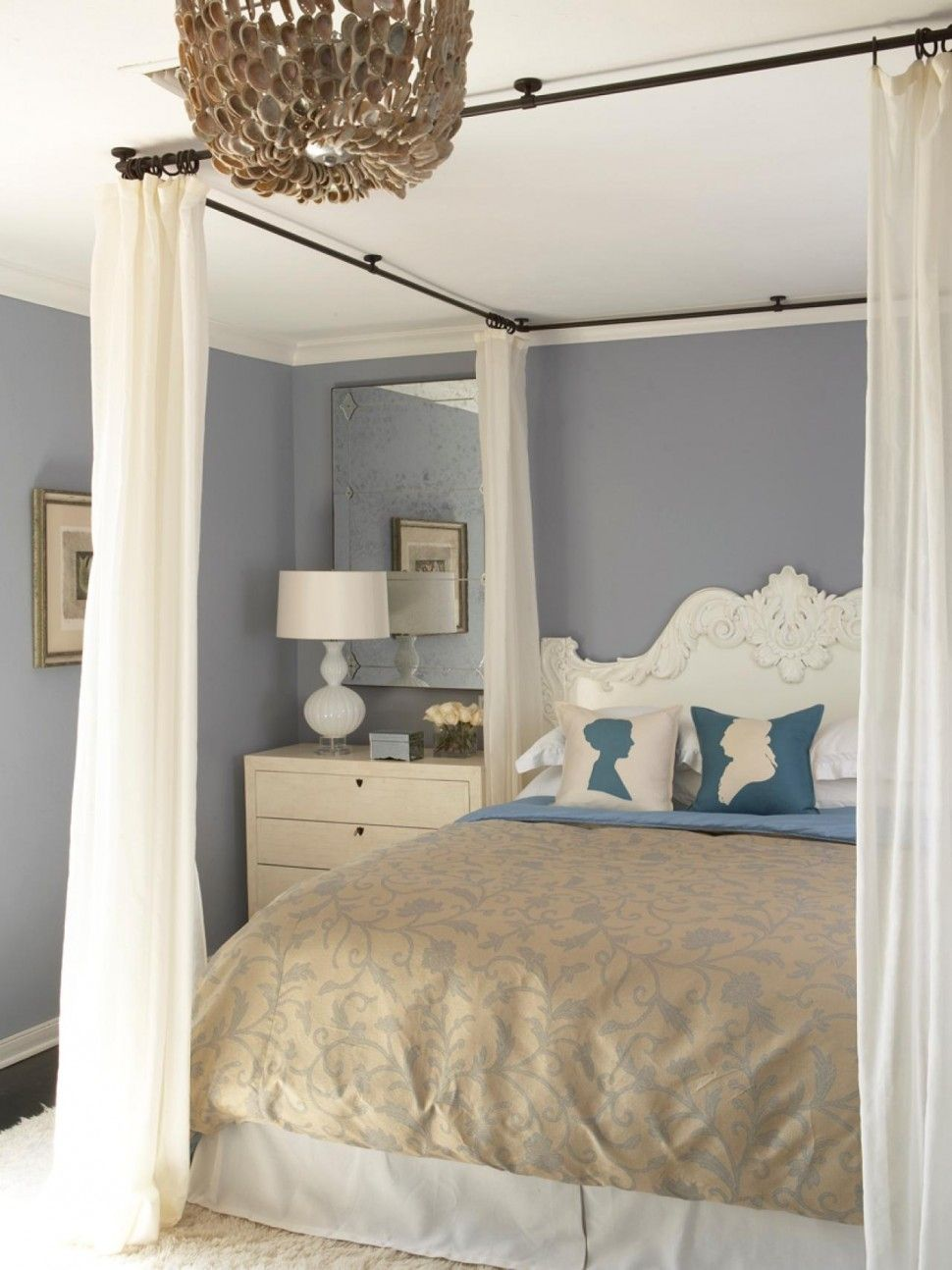 awesome-canopy-bed-ideas-bedrooms-with-floral-bed-cover-and-white ...