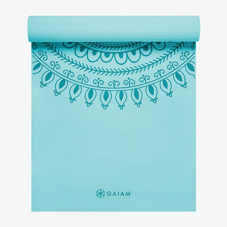 Premium Marrakesh Yoga Mat 5mm Blue Yoga Mat Print Yoga Mat Gaiam Yoga Mat