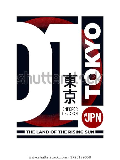 Tokyo Land Rising Sun Slogan Tshirt Stock Vector Royalty Free 1723179058 In 2020 Slogan Tshirt Slogan Sunrise