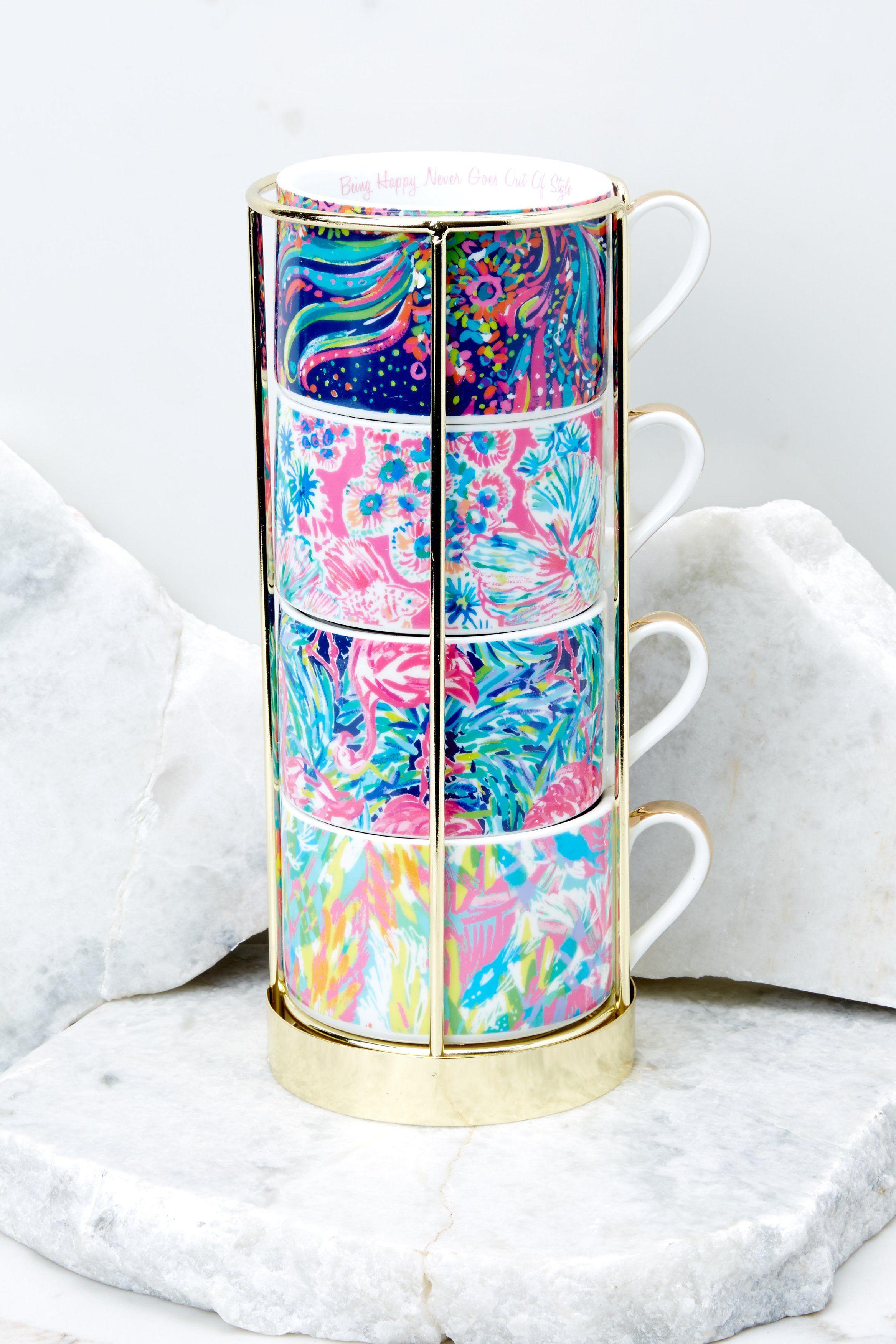 Lilly pulitzer cappuccino mug set mugs set mugs