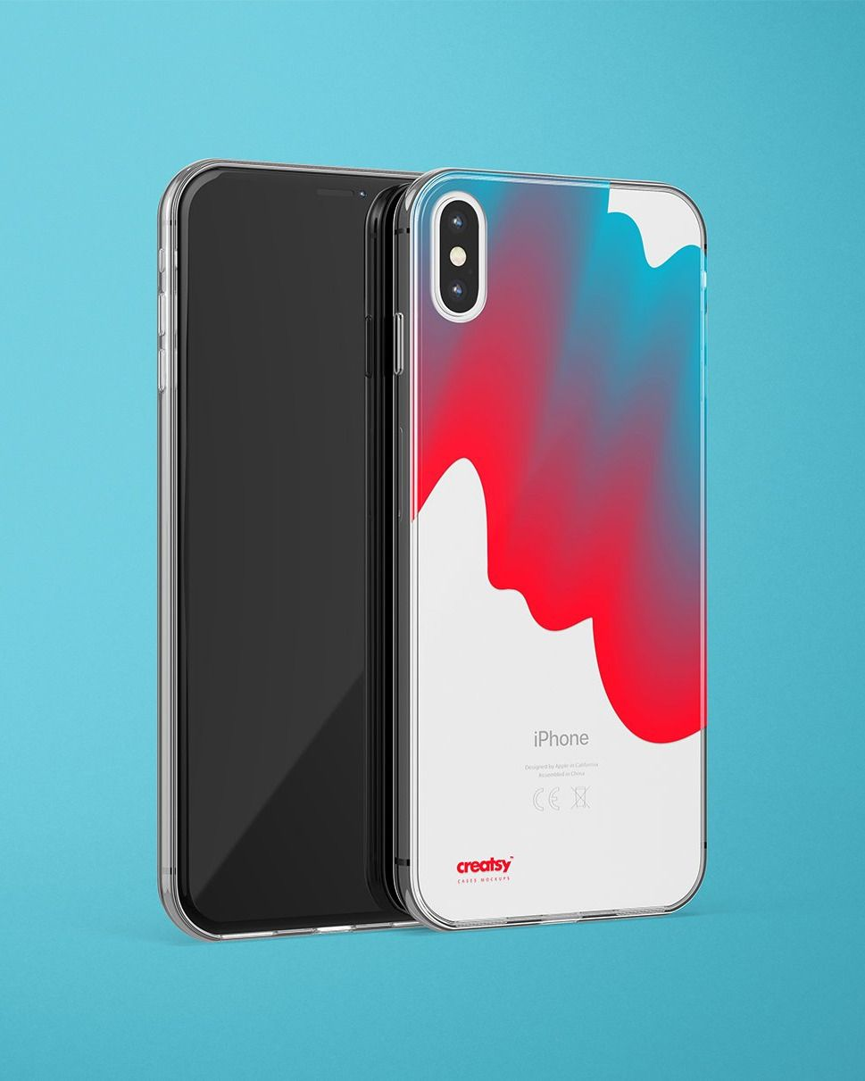 Download Iphone Xs Max Clear Case Mockup Set Clear Cases Iphone Case