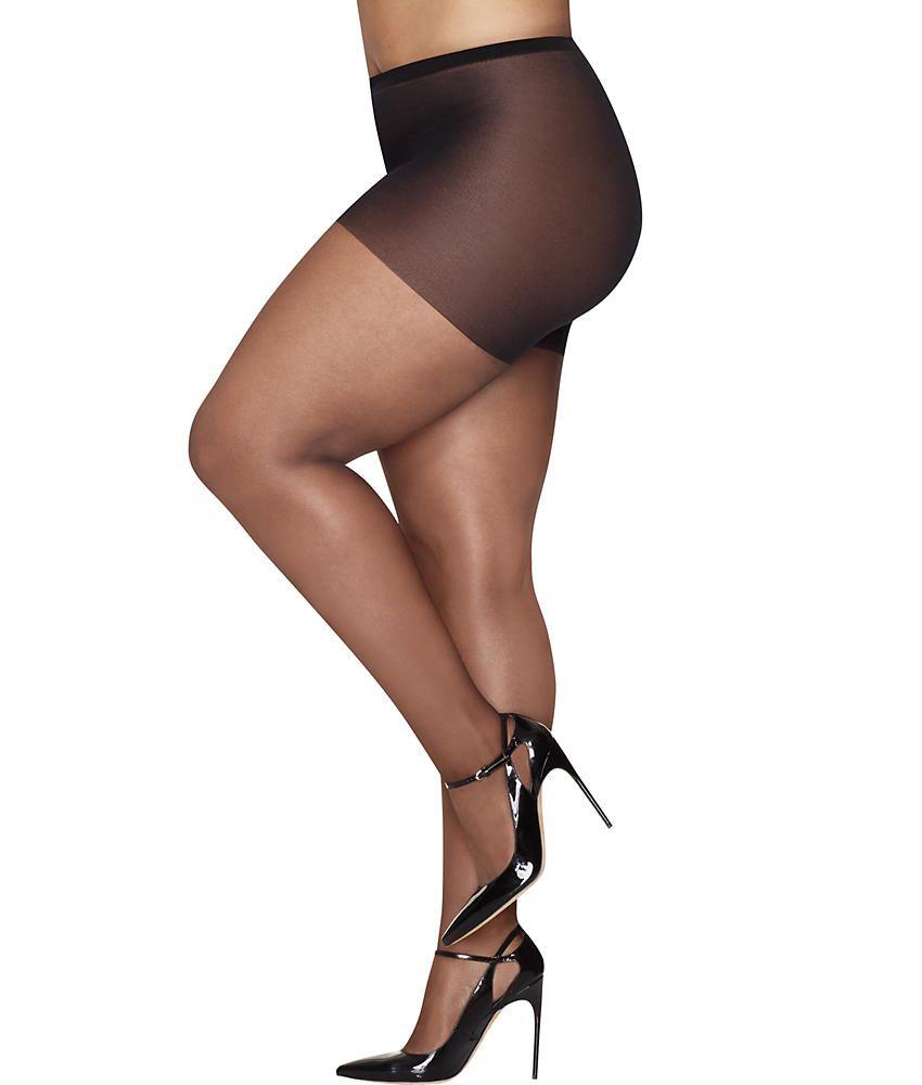 ef1939f014b12 Hanes Plus Size Curves Ultra Sheer Control Top Pantyhose Hosiery - Women's  738994934703 eBay#Ultra#Sheer#Control