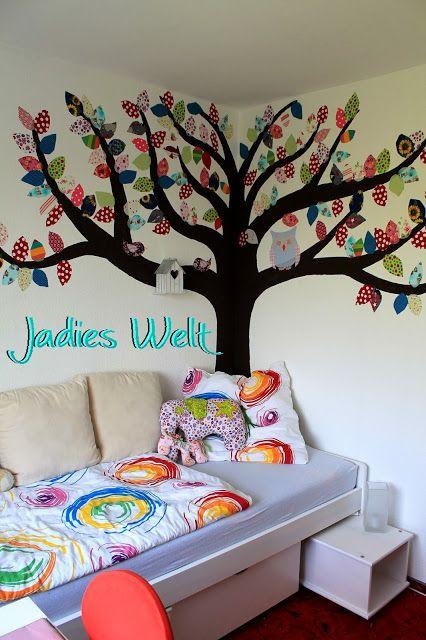 kostenloses Tutorial - Wandbild aus Stoffresten / Baum mit ...
