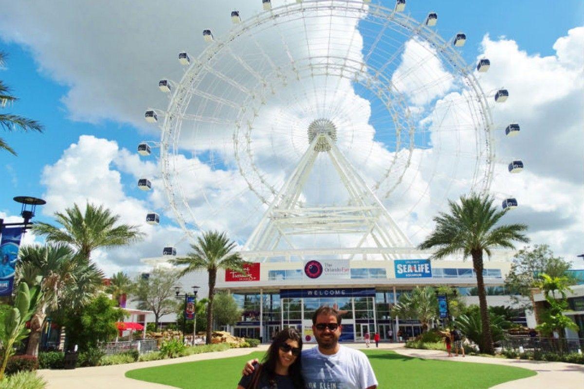 The Wheel a roda gigante de Orlando imagens) Roda
