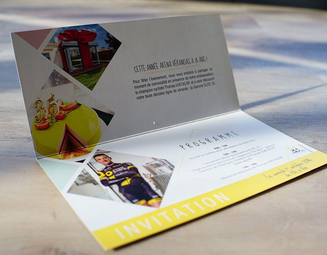 carton d invitation entreprise