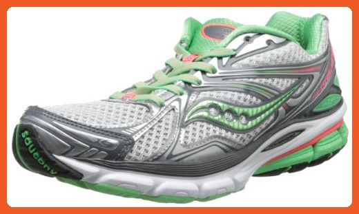3cffe6f841e66 Saucony Women's Hurricane 16 Running Shoe,Grey/Green/Pink,5 M US ...