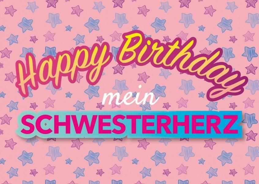 Geburtstagswunsche Karte Schwester Inspirational Mein