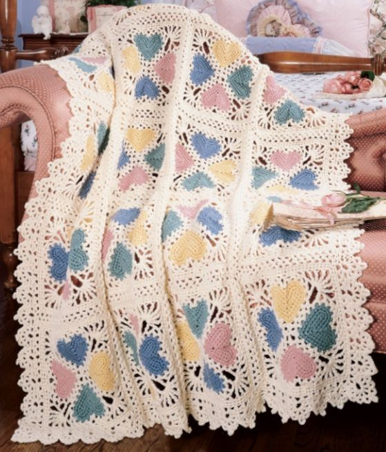 Crochet An Afghan With Heart 17 Free Patterns Grandmothers