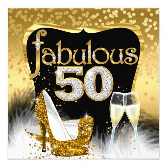 50th cincuenta Fiesta De Cumpleaños Fabuloso en 50 Fiesta Brillo Cake Topper