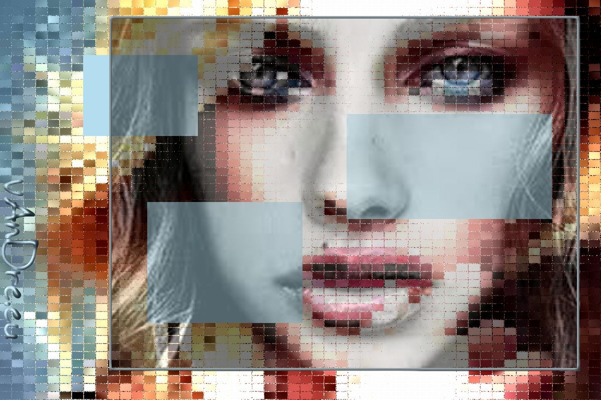Blond Ghost  Digitale knipsels leggen de basis voor een werk. Daarna volgt een uitgebreide bewerking.