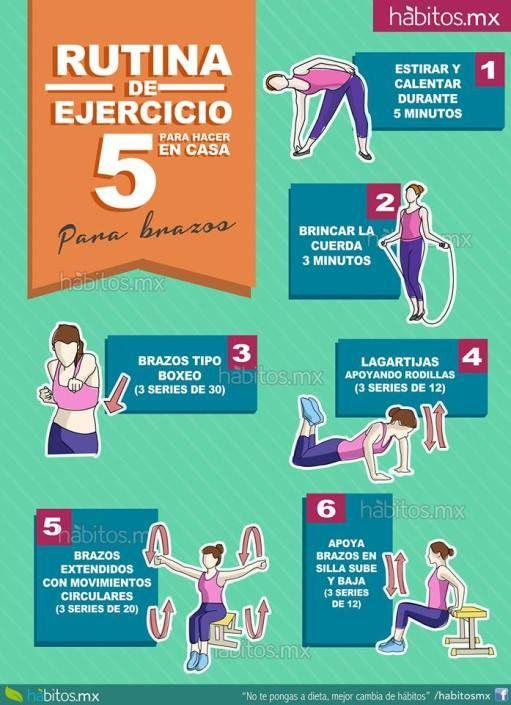 ejercicio en casa para adelgazar brazos