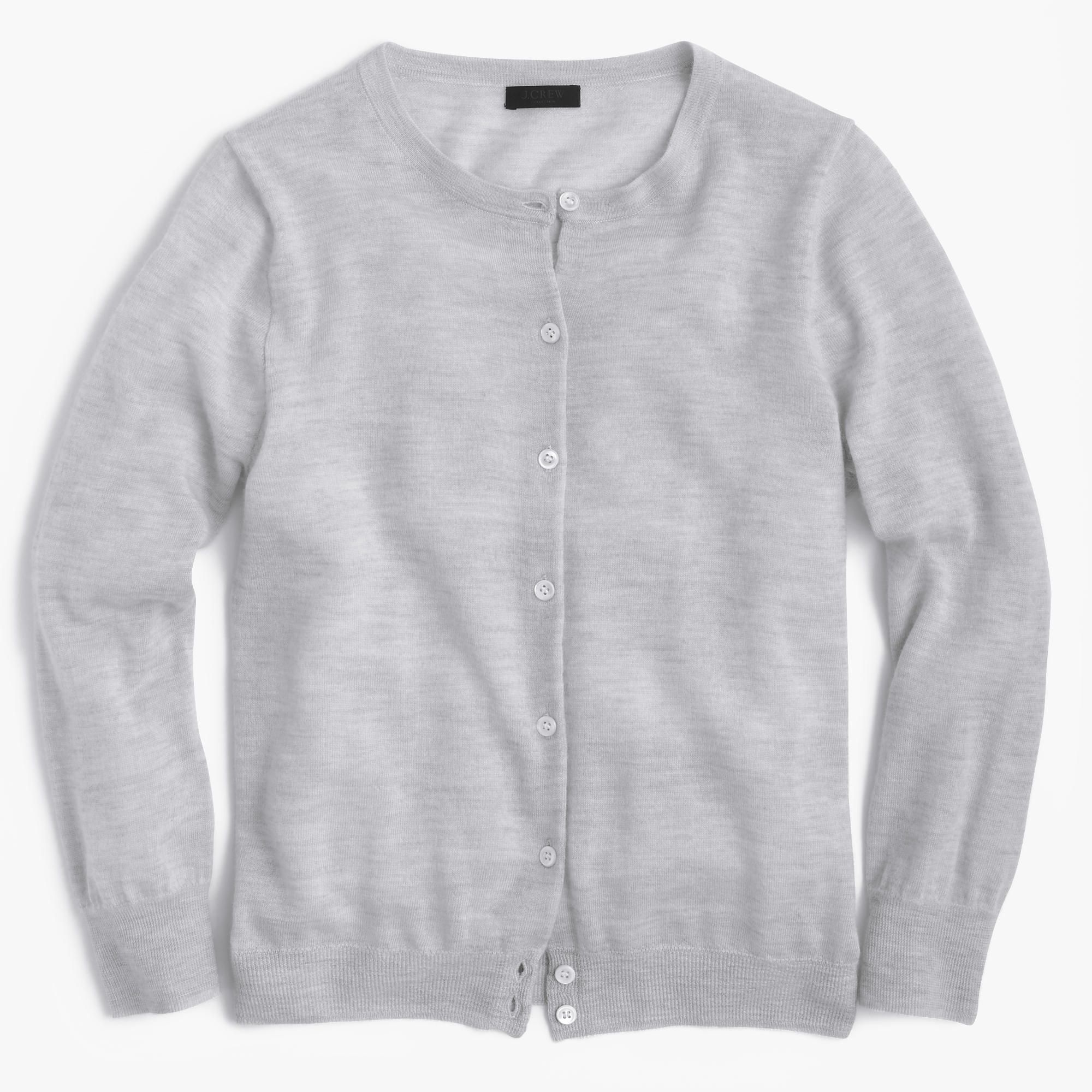 J.Crew Womens Italian Featherweight Cashmere Cardigan Sweater ...