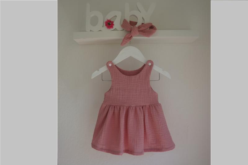 Kleider Baby Kleid Musselin Tragerkleidchen Tunika Altrosa Ein Designerstuck Von Kleines Und Feines Bei Dawanda Musselin Kleid Tunika Kleid Kleidung