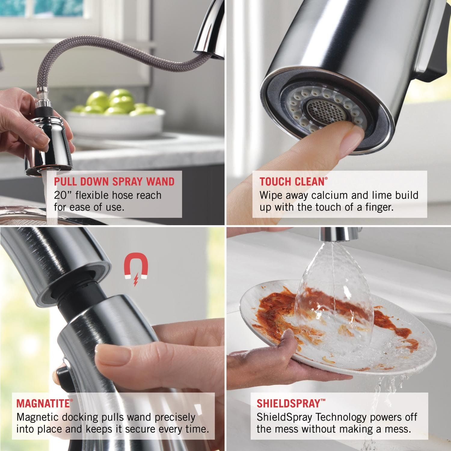 Delta Faucet 9178 Ar Dst Leland Single Handle Pull Down Kitchen Faucet With Magnetic Docking Arctic Kitchen Faucet Delta Faucets Single Handle Kitchen Faucet