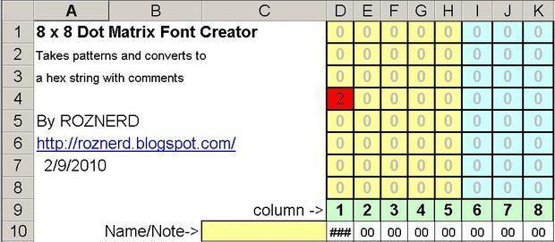 Led Scolling Dot Matrix Font Graphics Generator 5x8 5x7 8x8 Dots Matrix Led Matrix