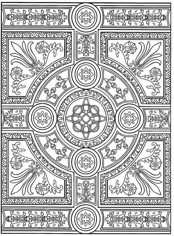 Coloring Page Tiles Tiles Met Afbeeldingen Kleurplaten