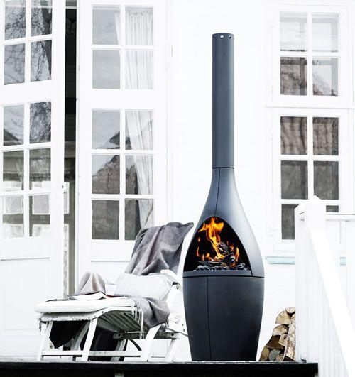 Kamino Außenkamin Von Morsø: Die Stylische Feuerstelle Wärmt Als ... Design Ideen Feuerstelle Draussen