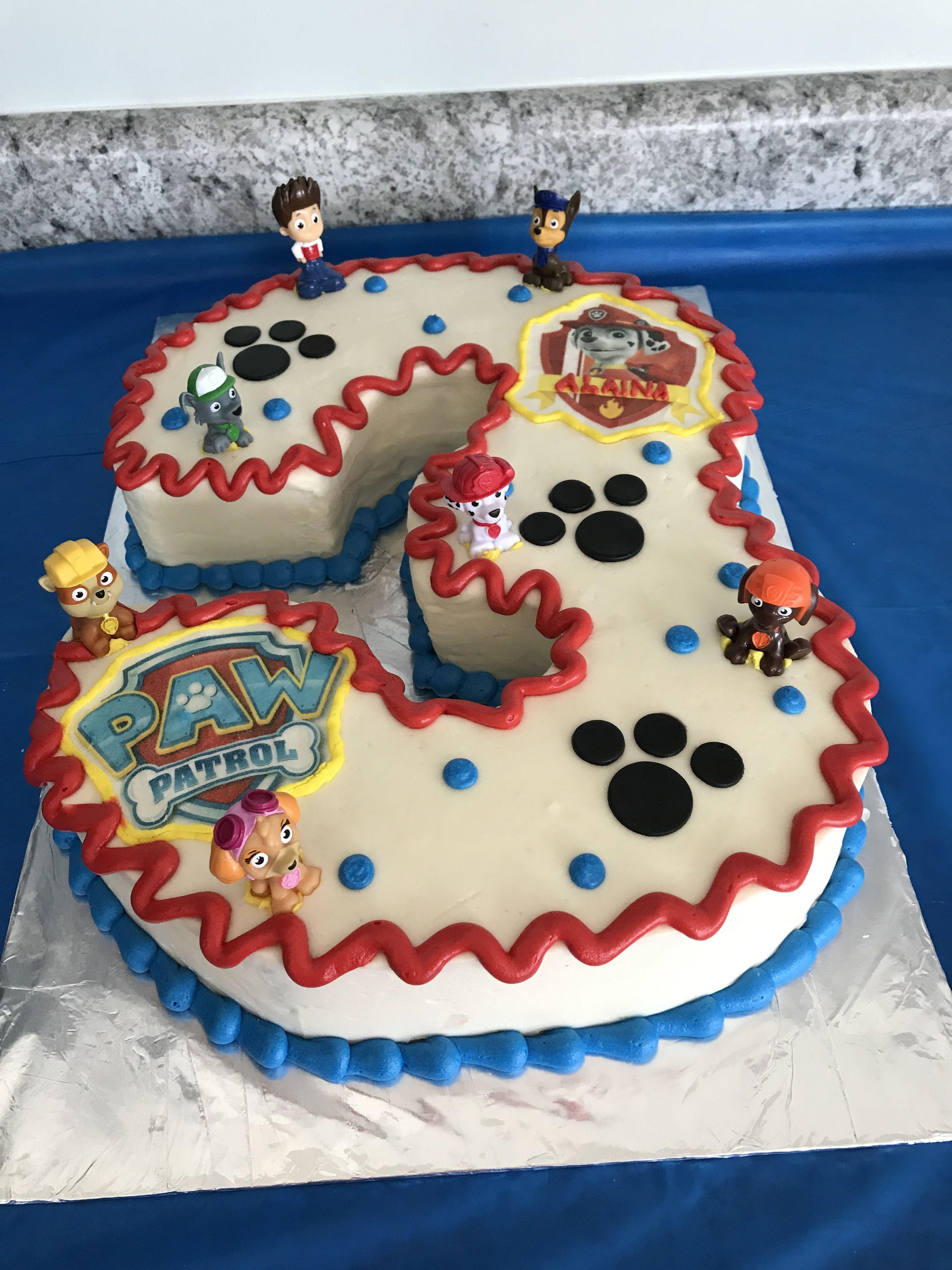 Paw Patrol Birthday Cake Marshal