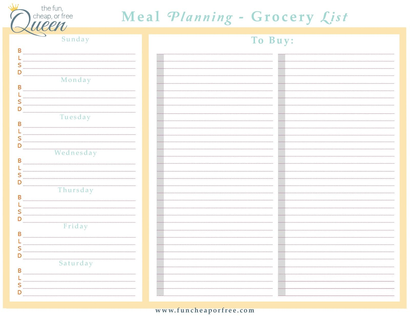 Easy Meal Plan Structure With Free Printables  Easy Meal Plans