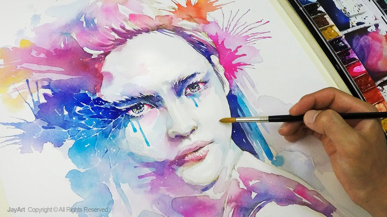 Speed Portrait Painting Technique In Watercolors By Jay Art Jay