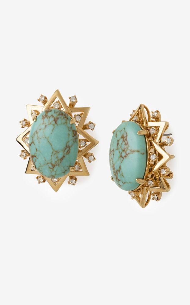 #love Turquoise sunburst earrings...