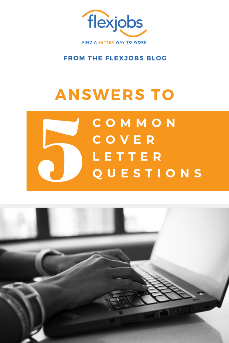 answers to 5 common cover letter questions