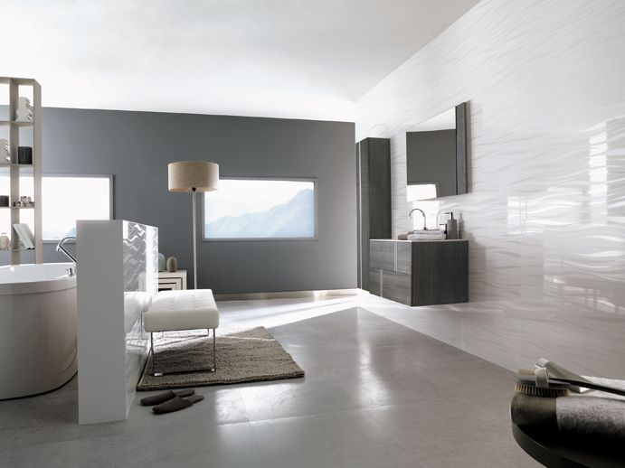 Porcelanosa Munich Natural Bathroom Feature Wall Bathroom Feature Wall Tile Modern Bathroom Tile