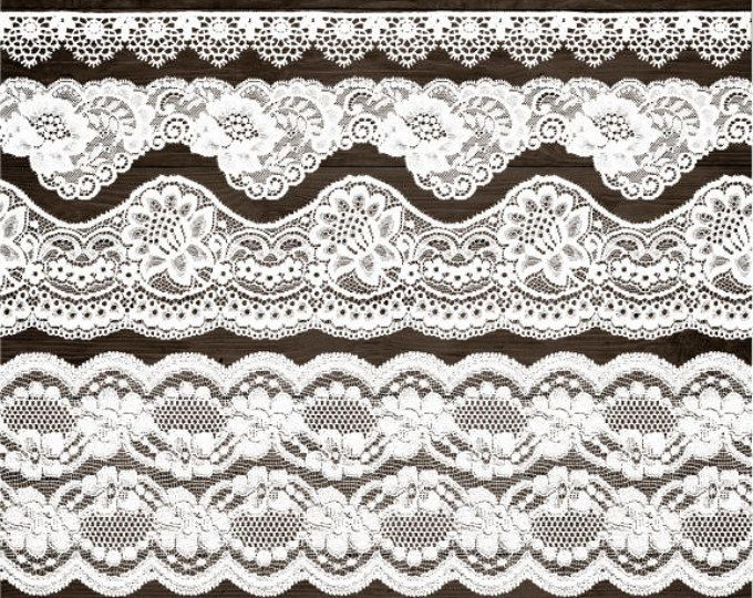 Wedding Lace Clipart White Border Clip Art Shabby Rustic Overlays
