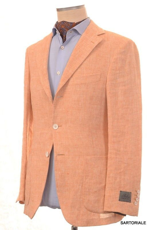 1c59069d1054 BELVEST Hand Made Peach Linen Blazer Jacket Sports Coat EU 50 NEW US 40  Slim Fit