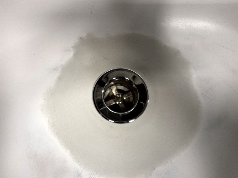 Bathtub Drain Rust Hole Repair Fitted With New Drain Drain Repair Bathtub Drain Bathroom Repair