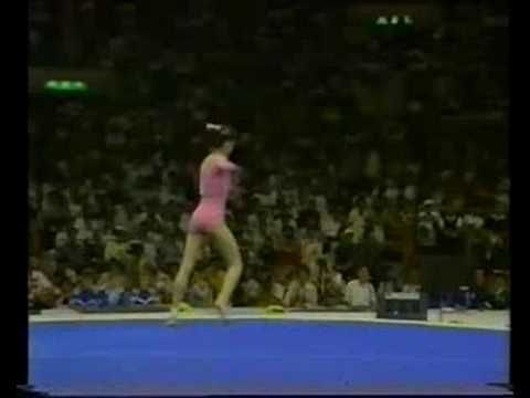 Deliana Vodenitcharova EF FX [1988] - Tal vez el mejor triple twist que he visto en la vida. ¡Power tumbling!