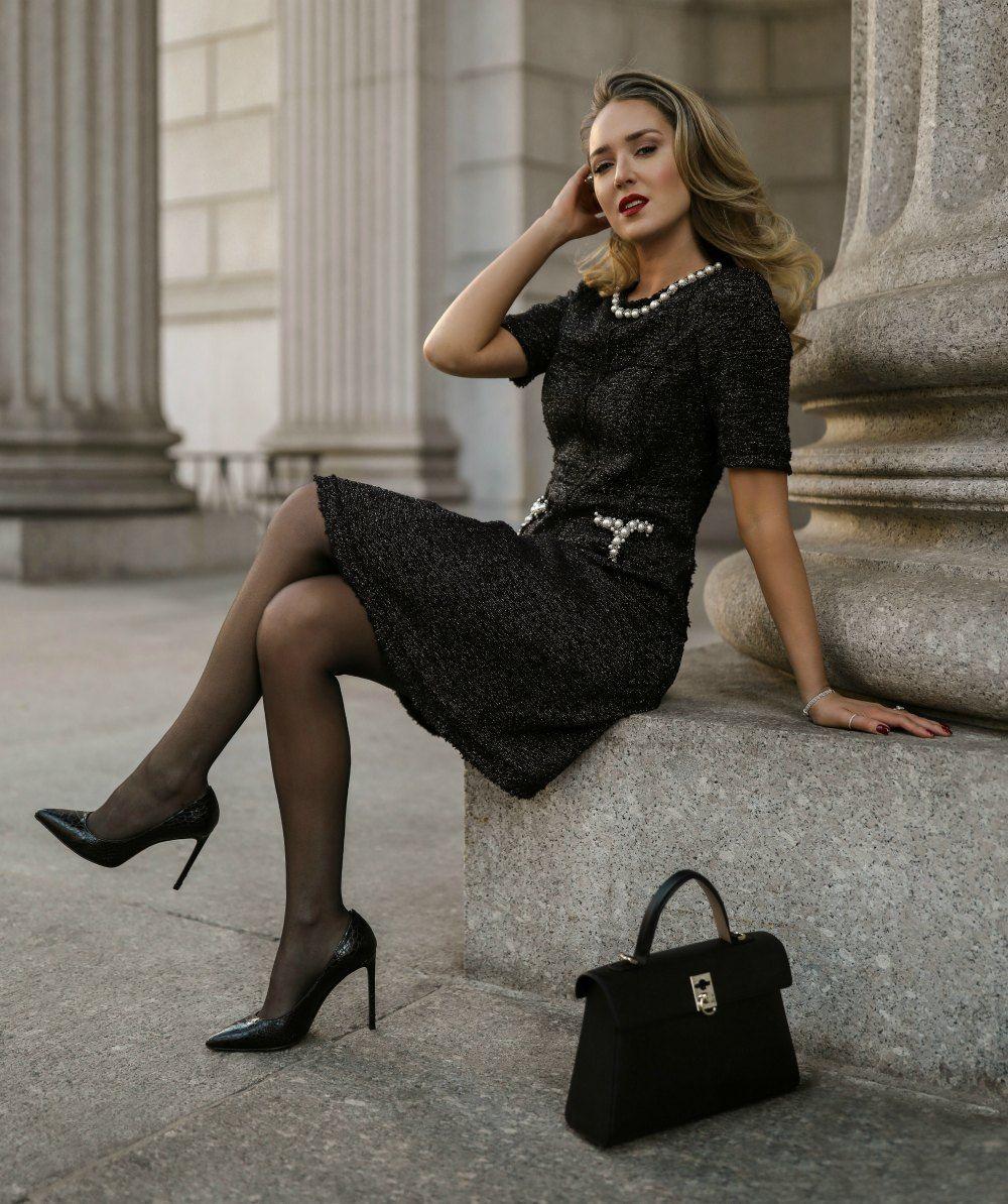 Breathtaking Women Photo Little Black Dress Black Dress Camilla Luddington [ 1920 x 1280 Pixel ]