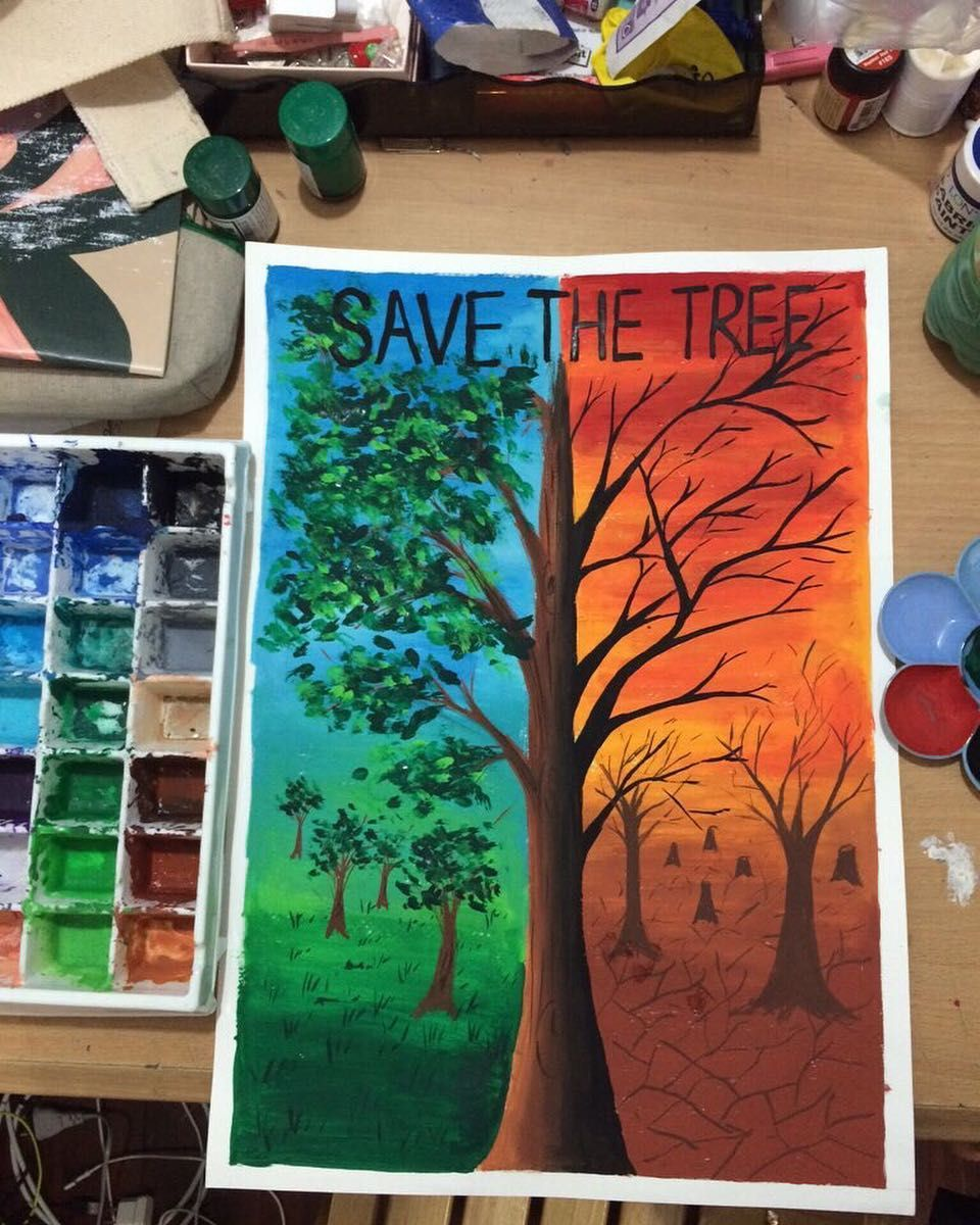 A Bad Painting Can Become A Good Painting All Dependent On The Environment Www Truestoryofdr Earth Drawings Poster Color Painting Save Environment Posters