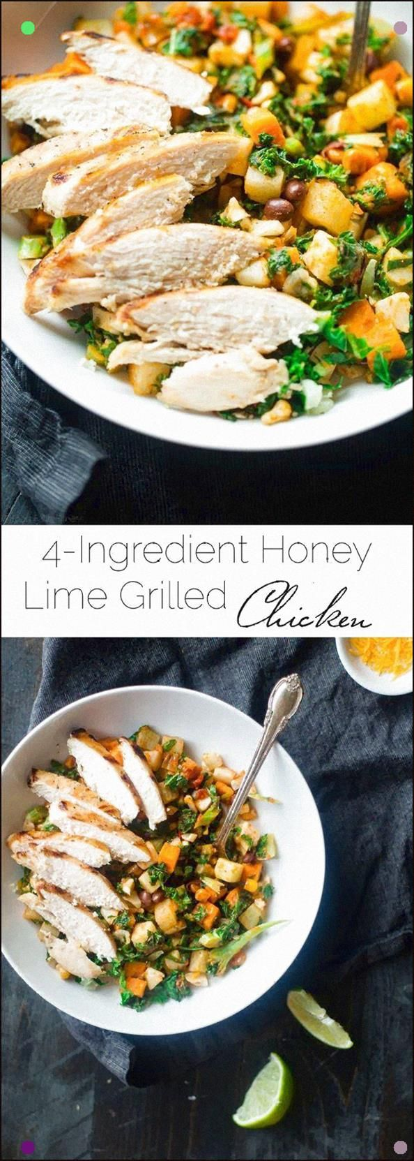 4 Ingredient Honey Lime Grilled Chicken - This Easy Honey Lime Chicken Only Uses 3 Ingredients And Is Ready In 15 Minutes It's A Healthy, Protein Packed And Gluten Free Addition To Your Next Dinner Foodfaithfit #honeylimechicken