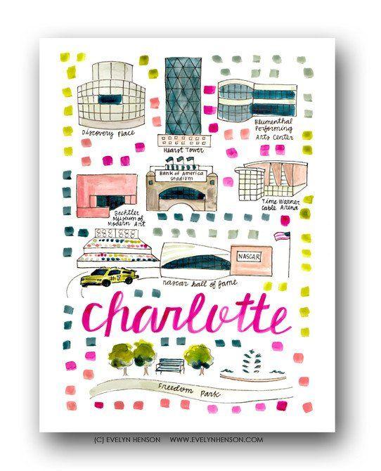 Charlotte Map Print