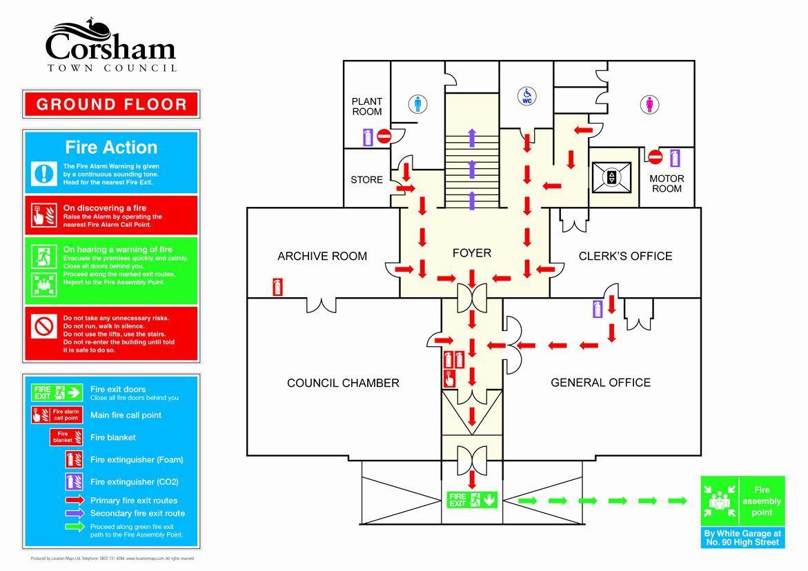 30 Evacuation Floor Plan Template In