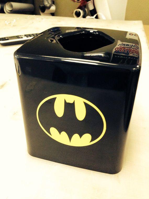 Batman Tissue Box Cover By Vslsigns On Etsy 10 00 Gift Basket