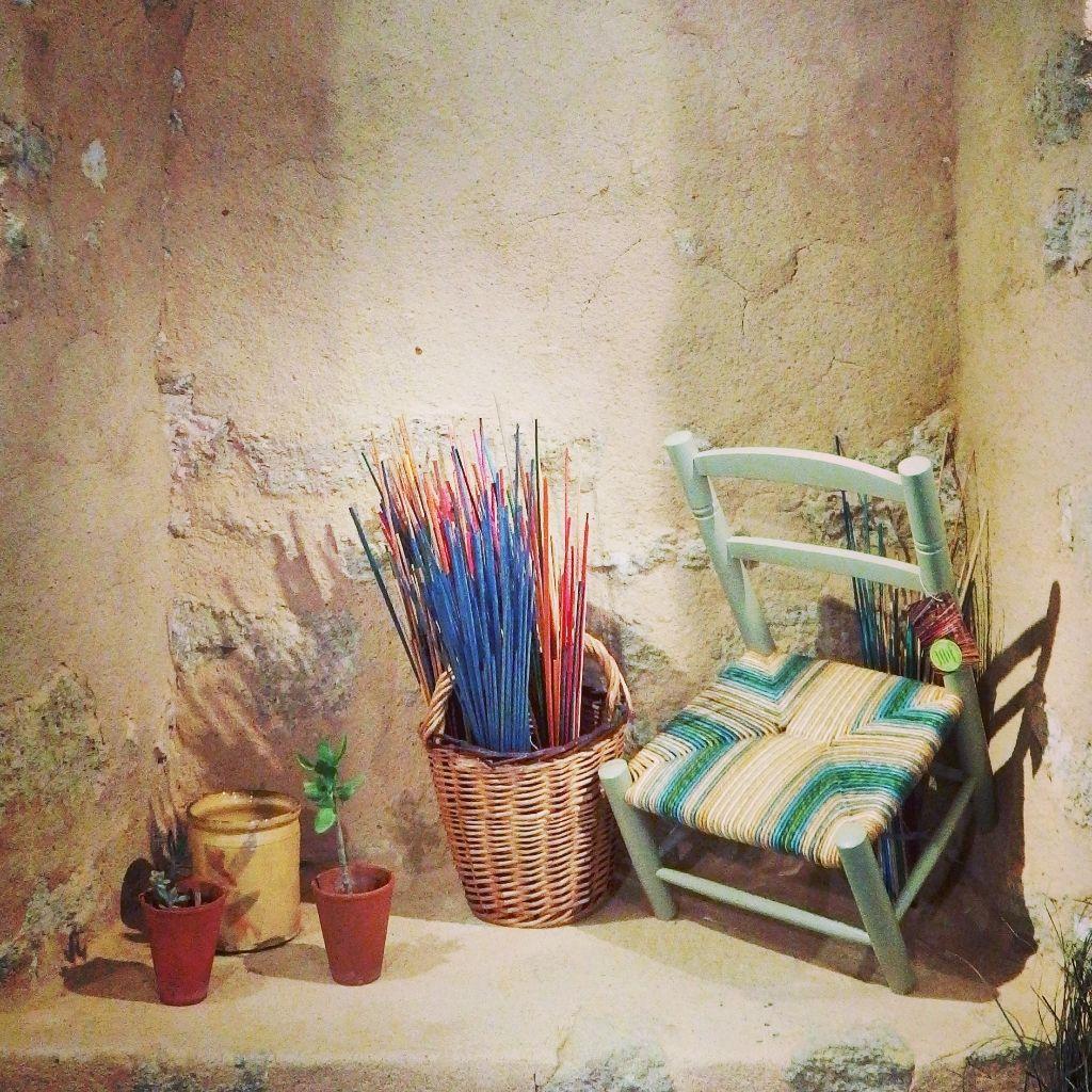 Chaise Enfant Paille De Seigle Peinture Farrowball Chaises