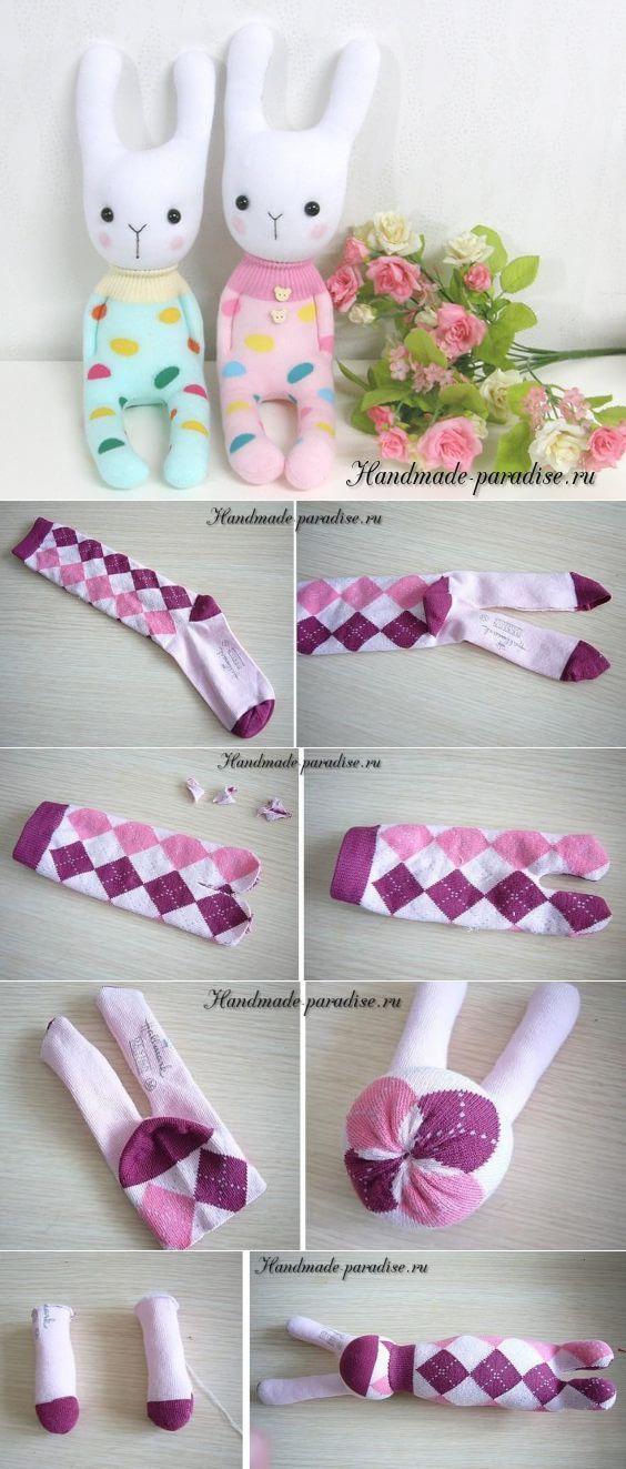 Игрушки из носков #dolls
