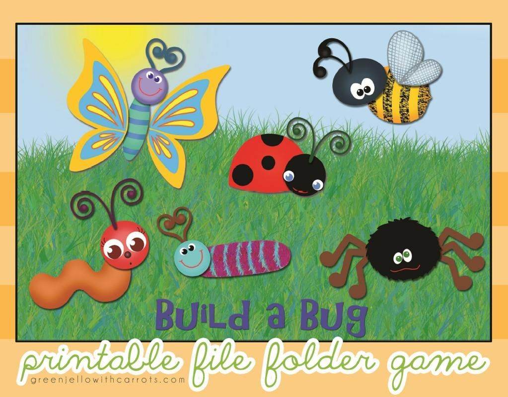picture regarding Printable File Folder Games known as Produce a Bug Printable History Folder Video game routine upon Craftsy