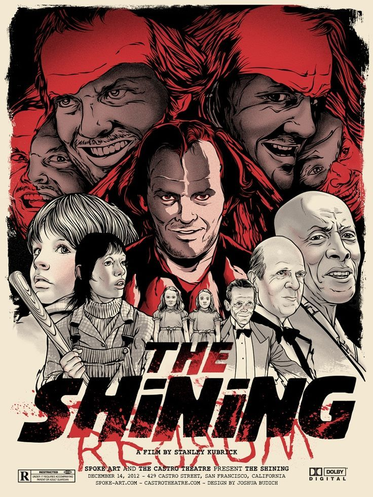 Original REDRUM The Shining Art Print Poster Stanley Kubrick Jack Nicholson Bar