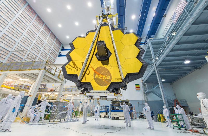 Behold the James Webb Telescope in all Its Unfurled Glory