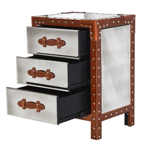 The Flying Dutchman Mirror & Leather Trunk Bedside Table - The Flying Dutchman Mirror & Leather Trunk Bedside Table House