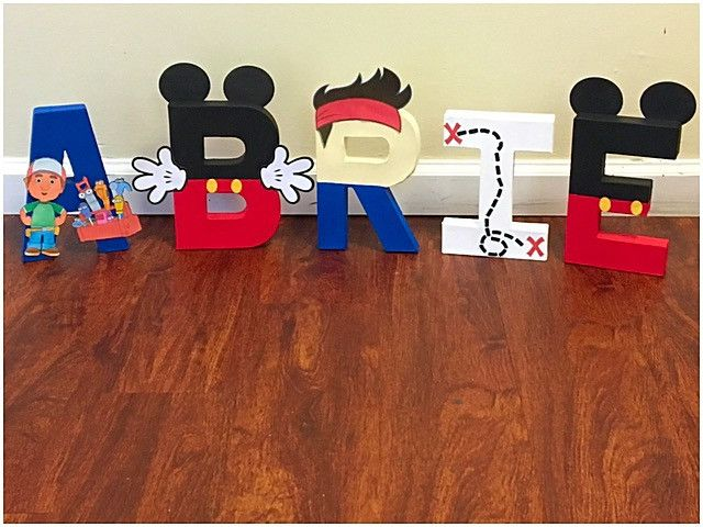 Multi Character Letter Theme Mickey Mouse Handy Manny Jake And The Neverland Pirates