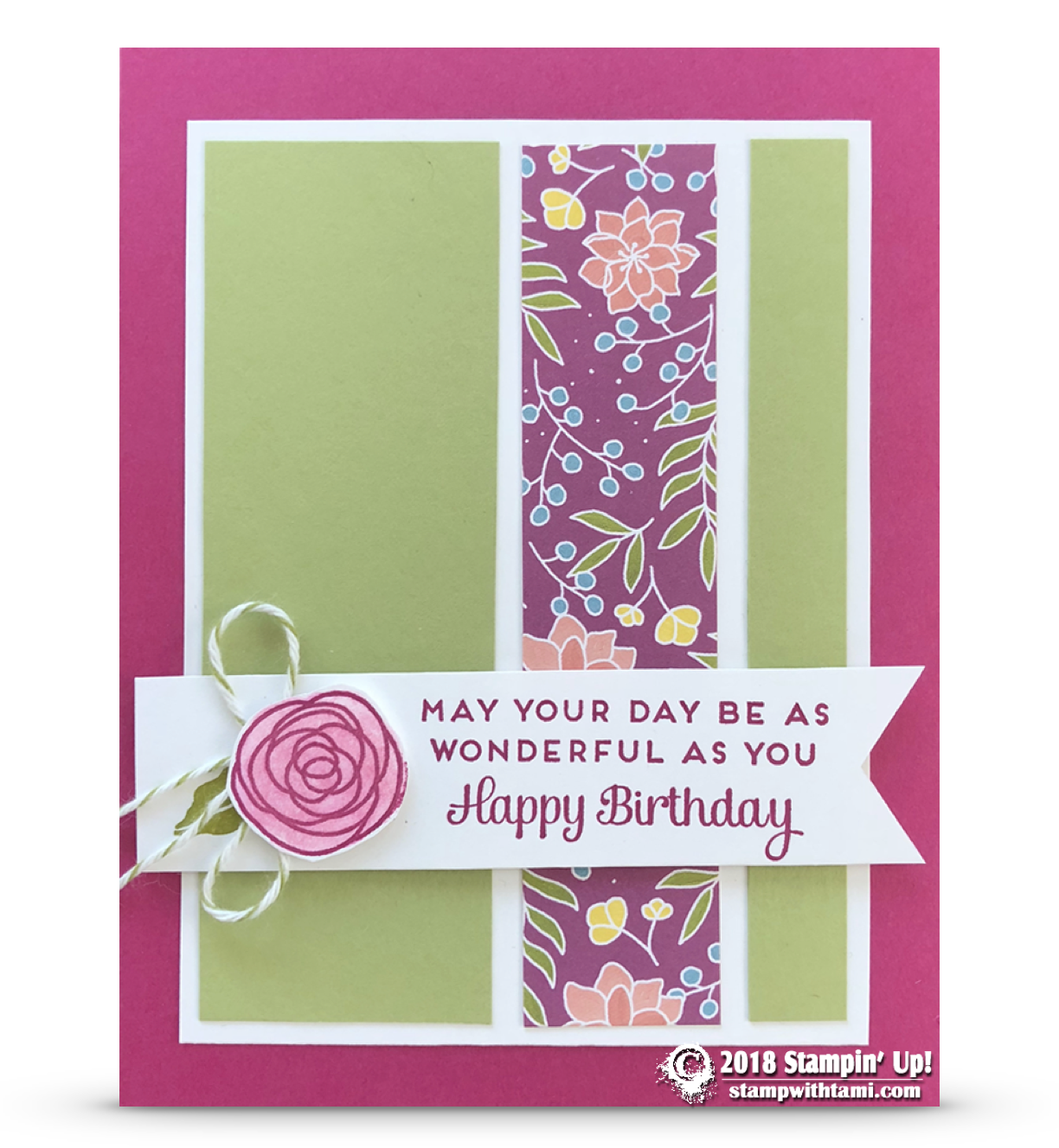 Card may your day be wonderful birthday card u part in sweet